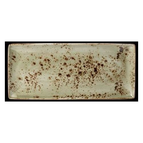 Półmisek z porcelany prostokątny Craft Steelite zielony 330 mm 11310556