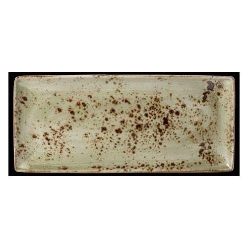 Półmisek z porcelany prostokątny craft zielony 370 mm 11310552 marki Steelite