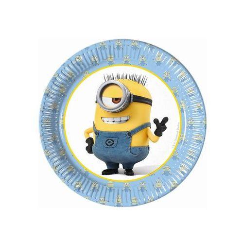Talerzyki urodzinowe minionki - 20 cm - 8 szt. marki Procos disney