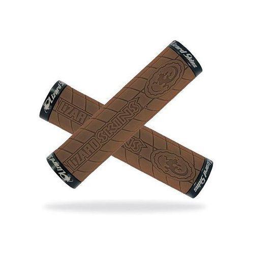 Lizard skins Chwyty kierownicy logo lock on 30,5x130 mm brązowe klamry czarne