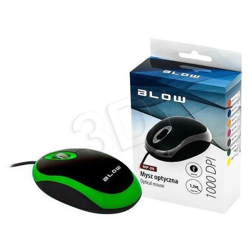 Mysz optyczna BLOW Mp-20 84-016# kolor zielony