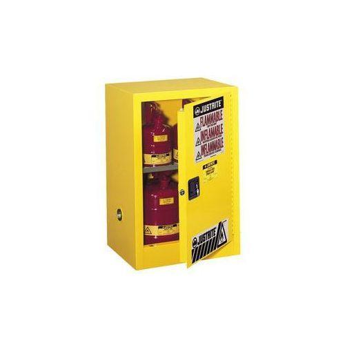 Bezpieczna szafka fm wstawiana pod stół, jednodrzwiowa,ręczne zamykanie marki Justrite