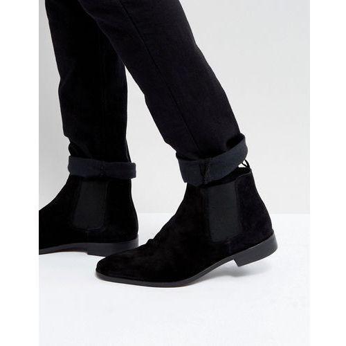 chelsea boots in black suede - black, Dune