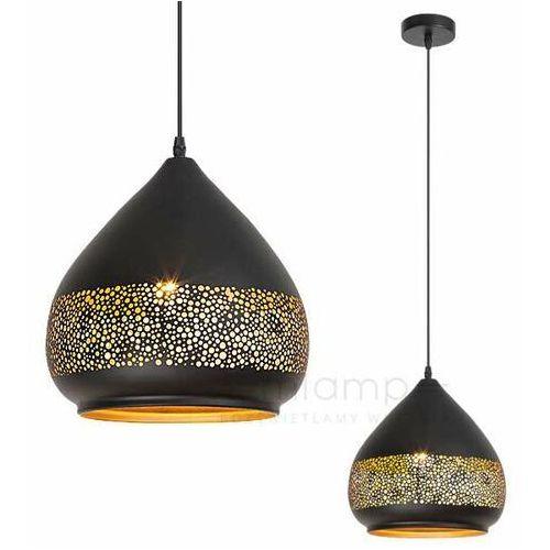 LAMPA wisząca KAIA 2278 Rabalux ażurowa OPRAWA orientalny zwis czarny złoty, kolor Czarny