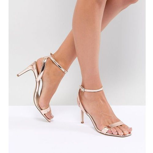 design half time barely there heeled sandals - gold, Asos