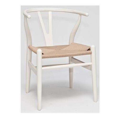 Krzesło Wicker insp. WISHBONE biały D2, 3250