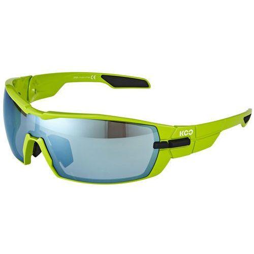 Kask koo okulary rowerowe zaw. 2 pary szkiełek superblue and clear zielony/czarny 2018 okulary
