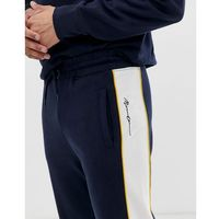 Mennace joggers with logo panel in navy - Navy, kolor szary