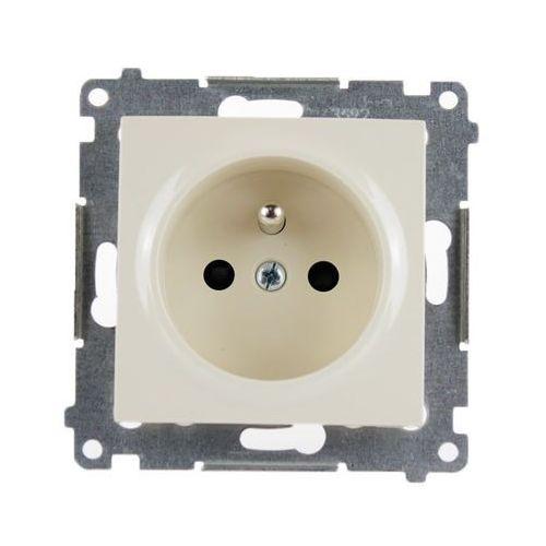 Kontakt-simon Gniazdo wtyczkowe simon 54 dgz1z.01/41 pojedyncze z uziemieniem i przesłonami kremowe (5902787823719)