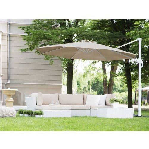 Beliani Parasol ogrodowy Ø300 cm mokka/biały savona (4260602370994)