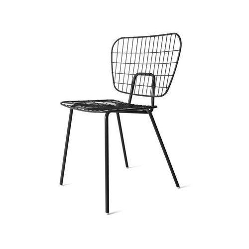 Krzesło wm string dining chair czarne marki Menu