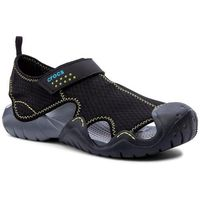 Sandały - swiftwater sandal m 15041 black/charcoal marki Crocs