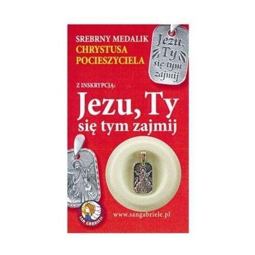 """Srebrny medalik Chrystusa Pocieszyciela z inskrypcją """"Jezu, Ty się tym zajmij"""". Najniższe ceny, najlepsze promocje w sklepach, opinie."""