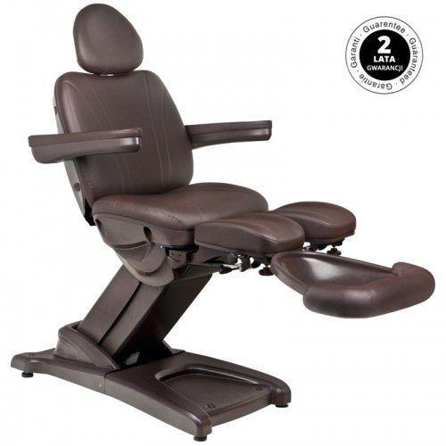 Fotel kosmetyczny elektr. azzurro 872s pedi-pro brązowy marki Activeshop