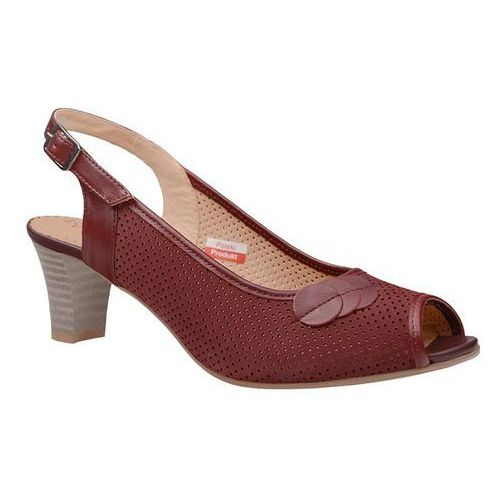Czółenka sandały comfort 2307 rubin peep toe na haluksy marki Axel