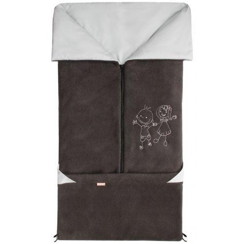 Emitex śpiworek do wózka/fusak 2w1 Fanda, antracyt/jasnoszary (8595624425039)