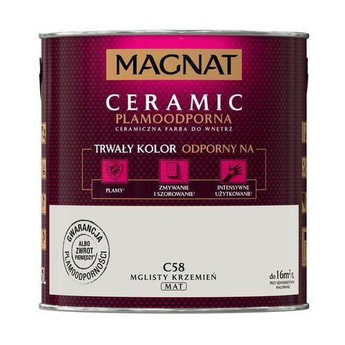 Śnieżka Farba ceramiczna magnat ceramic c58 mglisty krzemień 2.5l