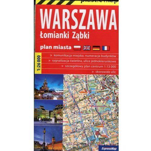 Warszawa Łomianki Ząbki mapa 1:26 000 ExpressMap