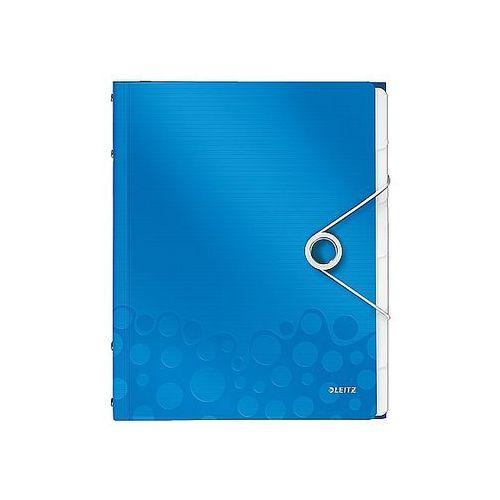 Leitz Teczka segregujaca wow, 6 przekładek metaliczna niebieska 46330036