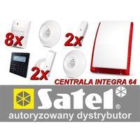 Zestaw alarmowy SATEL Integra 64, Klawiatura sensoryczna, 8 czujników ruchu PET, 2 czujniki zalania, 2 czujniki wibracyjne, czuj