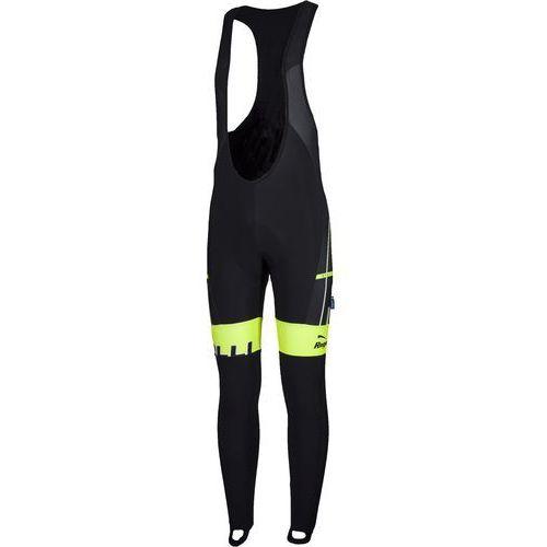 Rogelli Gara Mostro - męskie spodnie rowerowe z wkładką żelową (czarno-żółty)