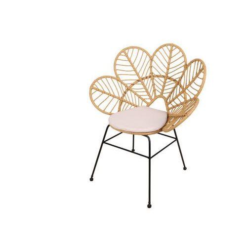 Fotel ogrodowy GARDENIA z technorattanu w kolorze beżowym