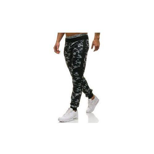Spodnie męskie dresowe joggery moro-szare Denley HL8519, dresowe