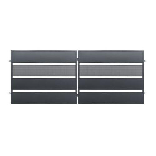 Brama dwuskrzydłowa Polbram Steel Group Tebe 4 x 1,58 m ocynk antracyt (5901122311058)