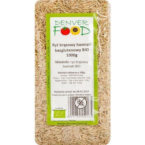 Ryż basmati brązowy bezglutenowy bio 1 kg marki Denver food
