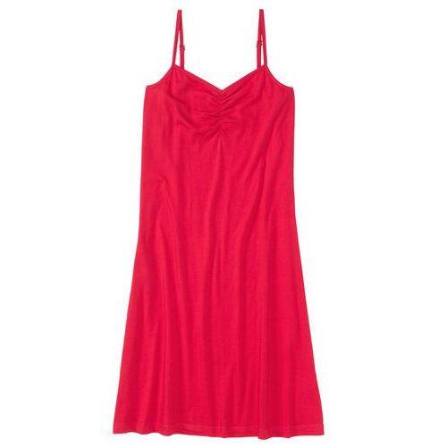 Koszula nocna na cienkich ramiączkach. bonprix czerwony