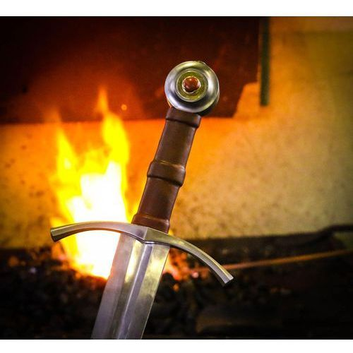 Ręcznie kuty i hartowany miecz średniowieczny carolus rex msw195 marki Płatnerze