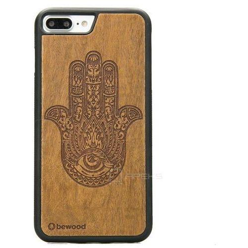Bewood hamsa imbuia etui na telefon iphone 7 plus / iphone 8 plus - hamsa imbuia
