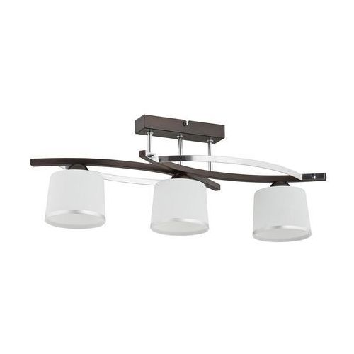 Plafon lampa sufitowa Lemir Astred 3x60W E27 chrom/rdza/wenge O2283 W3 RW