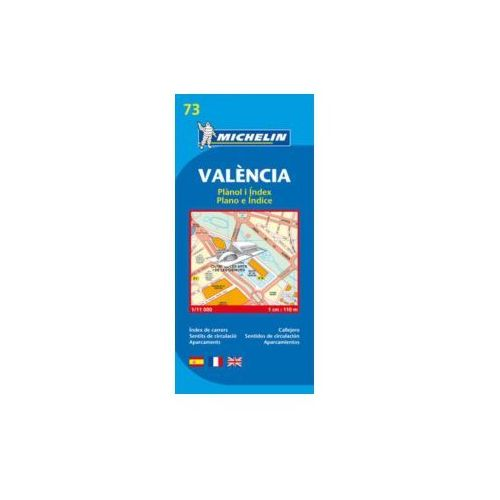 Walencja plan miasta mapa 1:11 000 Michelin (9782067127852)