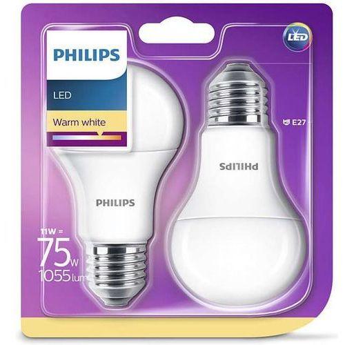 żarówka led e27 11w (75w) 1055lm 230v barwa ciepła 86112 (2szt) marki Philips