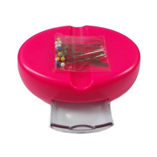 Poduszka magnetyczna - różowa z szufladką na szpilki + szpilki gratis marki The arch