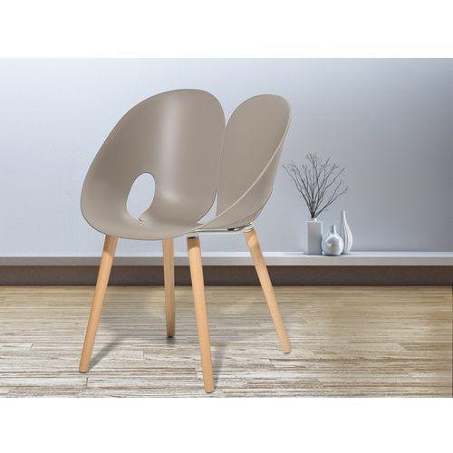 Krzesło jasnoszare - krzesło do jadalni, do salonu - krzesło kubełkowe - memphis wyprodukowany przez Beliani