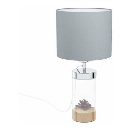 Eglo lidsing 99289 lampa stołowa lampka 1x40w e27 chrom/szara