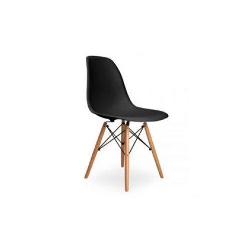 """Krzesło """"monza""""- czarne z bukowymi nogami marki Pozostali"""