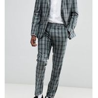 Heart & dagger slim suit trousers in check - green