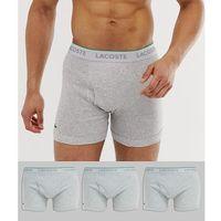 Lacoste Essentials 3 pack trunks in grey - Grey, w 3 rozmiarach