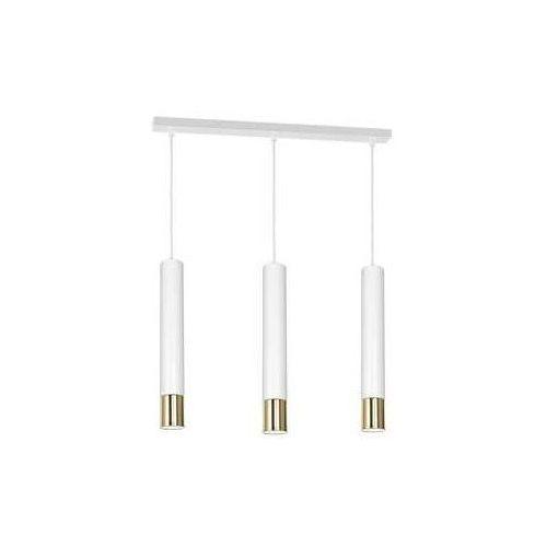 Luminex Nest 1563 lampa wisząca zwis 3x8W GU10 złoty biały (5907565915631)