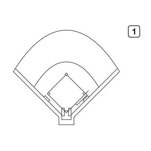 Wally - piękno dekoracji Tablica suchościeralna trenerska taktyczna 182 baseball