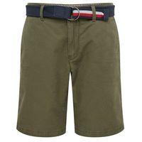 TOMMY HILFIGER Spodnie 'BROOKLYN SHORT LIGHT TWILL BELT' oliwkowy, kolor zielony