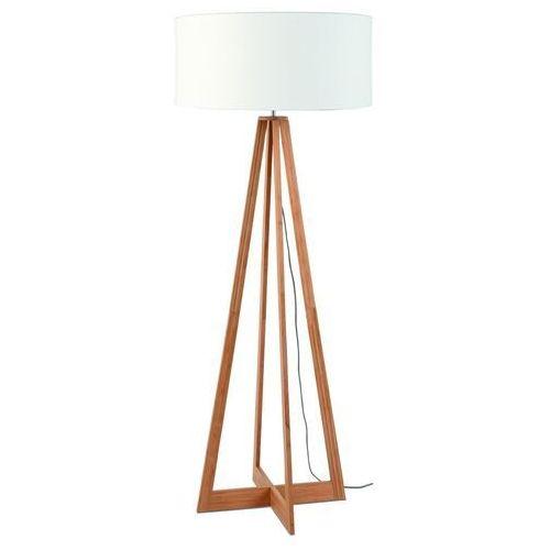 GOOD&MOJO Lampa podłogowa Everest bambus 4-nożna 127cm/abażur 60x30cm, lniany biały EVEREST/F/6030/W, EVEREST/F/6030/W