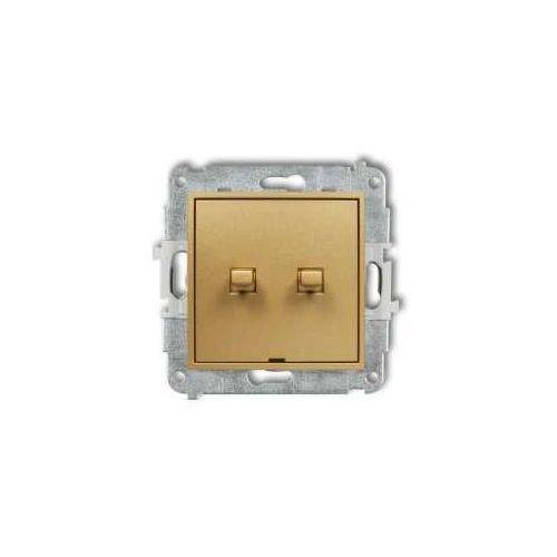 Karlik Przycisk żaluzjowy mini 29mwpus-8 w stylu amerykańskim złoty