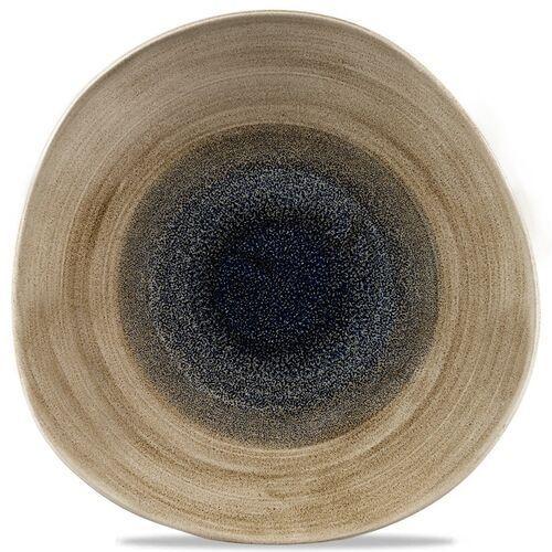 Talerz porcelanowy płytki o organicznym kształcie aqueous bayou marki Churchill