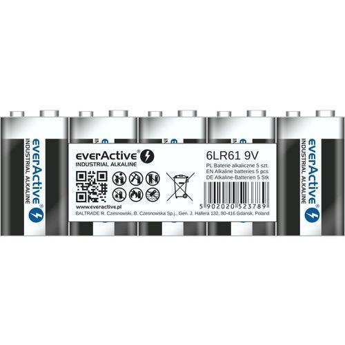 Everactive 5 x baterie alkaliczne  pro 6lr61 / 6lf22 9v (taca)