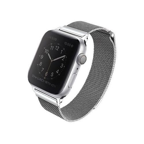pasek dante apple watch series 4 44mm stainless steel srebrny/sterling silver - srebrny \ watch 4 44mm marki Uniq