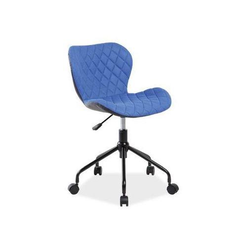 Fotel obrotowy, krzesło biurowe RINO niebieski